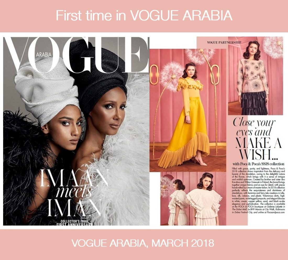 Poca Poca The First Wonderful Article About Poca Poca In Vogue Arabia Magazine
